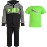 Puma Cotton Fleece Hoodie, T-Shirt and Pants Set (For Infants)