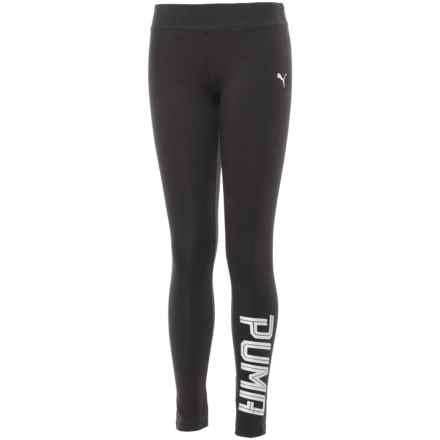 Puma Cotton Leggings (For Big Girls) in Black - Closeouts