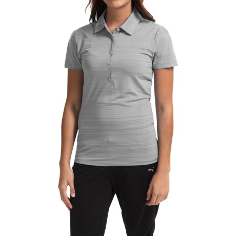 Puma Cresting Polo Shirt UPF 30+, Short Sleeve (For Women)