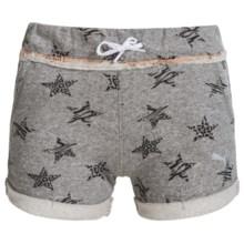 Puma Cuffed Shorts (For Big Girls) in Medium Heather Grey - Closeouts