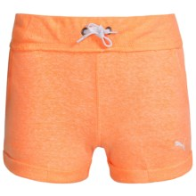 Puma Cuffed Shorts (For Big Girls) in Orange Pop - Closeouts