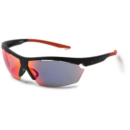 Puma cxMOVE Sunglasses (For Men and Women) in Black/Black/Red - Closeouts