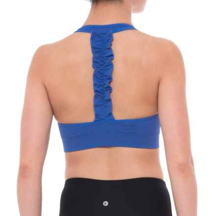 Puma Dance Seamless Sports Bra - Low Impact, Removable Cups (For Women) in Blue - Closeouts