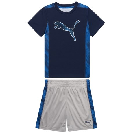 Puma Davis T-Shirt and Shorts Set - Short Sleeve (For Little Boys) in Peacoat