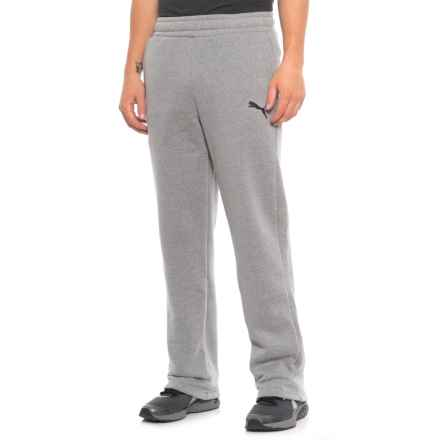 Puma Essential Active Logo Sweatpants (For Men) in Medium Gray Heather/Cat - Closeouts