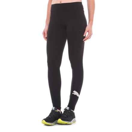 Puma Essentials Logo Leggings (For Women) in Puma Black/Silver - Closeouts