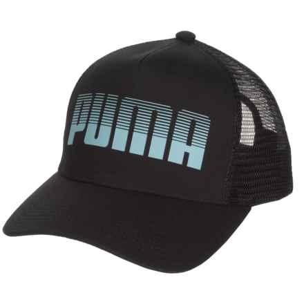 Puma Evercat Aero Trucker Hat (For Women) in Black/Blue - Closeouts