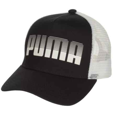 Puma Evercat Aero Trucker Hat (For Women) in Black/White - Closeouts