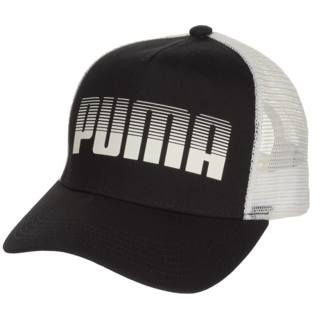 Puma Evercat Aero Trucker Hat (For Women) in Black/White
