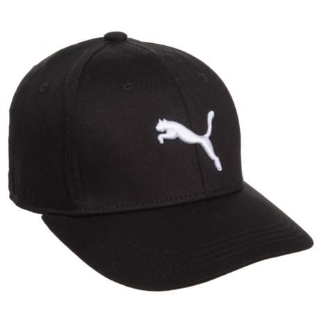 Puma Evercat Anthem Stretch-Fit Baseball Cap (For Kids) in Black White e220f35f38e