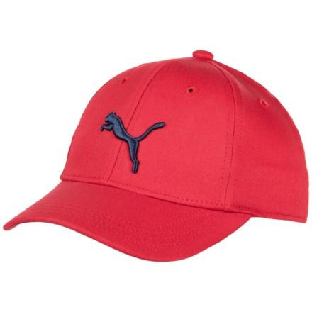 10a134e7529 Puma Evercat Anthem Stretch-Fit Baseball Cap (For Kids) in Medium Red -