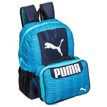 Puma Evercat Grub Combo 2.0 Backpack (For Boys) in Blue Combo - Closeouts