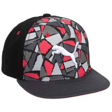 Puma Evercat Nitro Flat-Brim Snap-Back Baseball Cap (For Kids) in Red/Black - Closeouts