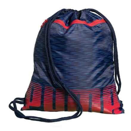 Puma Evercat Rival Carrysak Drawstring Backpack (For Boys) in Navy/Red - Closeouts
