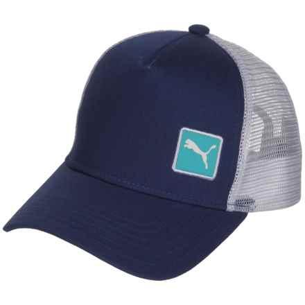 Puma Evercat Sierra Trucker Hat (For Women) in Navy/White - Closeouts