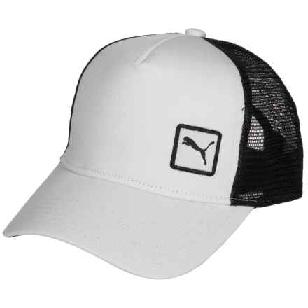 Puma Evercat Sierra Trucker Hat (For Women) in White/Black - Closeouts