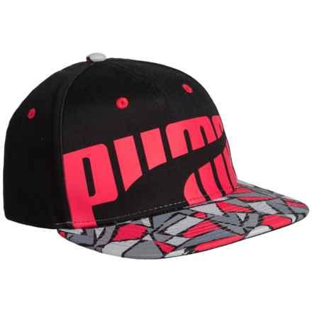 Puma Evercat Splat Baseball Cap (For Kids) in Black/Red - Closeouts
