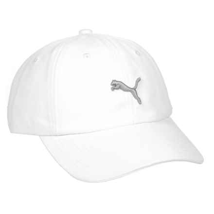 Puma Evercat Yates Adjustable Baseball Cap (For Women) in White/Grey - Closeouts