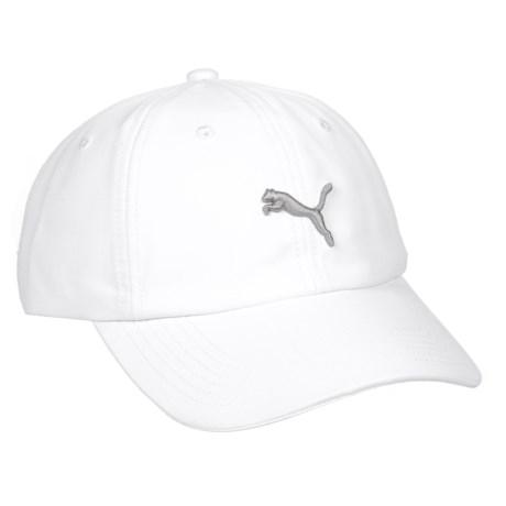 Puma Evercat Yates Adjustable Baseball Cap (For Women) in White/Grey