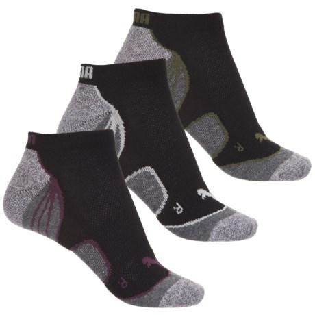 3-Pack PUMA Women's Extended Terry Socks (Black/Green)