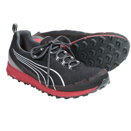 Puma Faas 250 H2O Trail Running Shoes (For Men) in Black/Ribbon Red