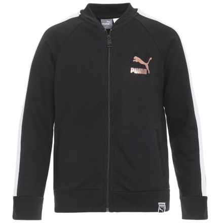 Puma Fashion French Terry Jacket - Zip Front (For Big Girls) in Puma Black - Closeouts