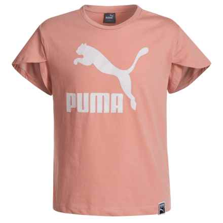 Puma Fashion Jersey Shirt - Short Sleeve (For Big Girls) in Peach Beige - Closeouts