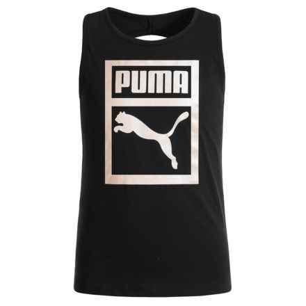 Puma Fashion Logo Twist-Back Tank Top (For Big Girls) in Puma Black - Closeouts