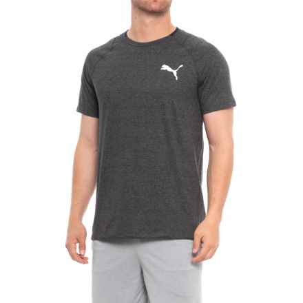 Puma Finishline T-Shirt - Short Sleeve (For Men) in Dark Gray Heather/White - Closeouts