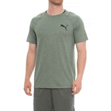 Puma Finishline T-Shirt - Short Sleeve (For Men) in Laurel Wreath Heather/Puma Black - Closeouts