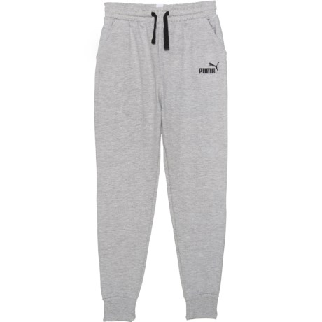 2616e4b60f34 Puma Fleece Amplified Joggers (For Big Boys) in Light Heather Grey