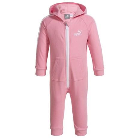 Puma Fleece Hooded Jumpsuit - Long Sleeve (For Infant Girls)