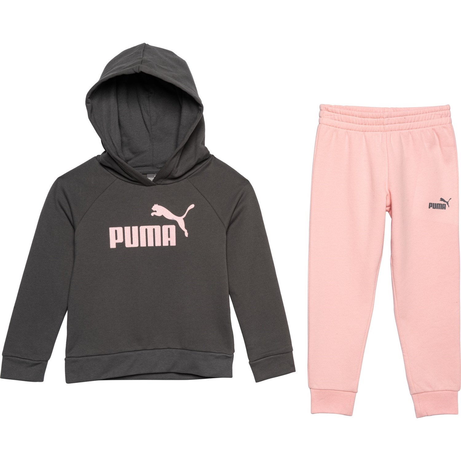 336995d8 Puma Fleece Hoodie and Joggers Set (For Little Girl) - Save 67%