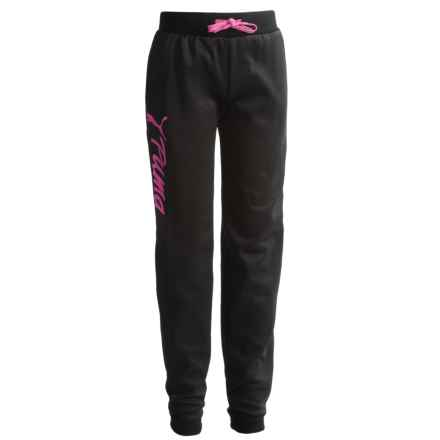 Puma Fleece Joggers (For Big Girls) in Black - Closeouts