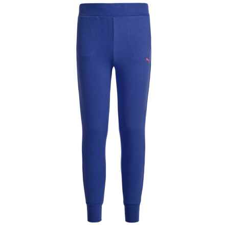 Puma Fleece Joggers (For Big Girls) in Blue Depth - Closeouts