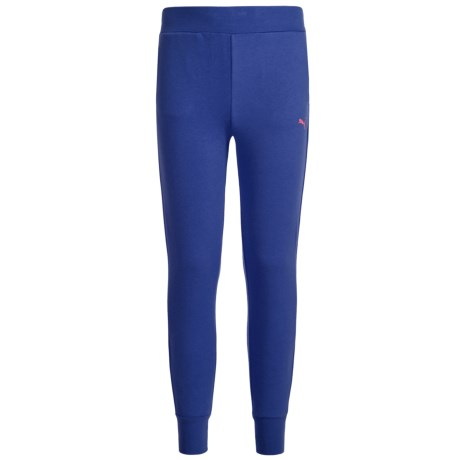 Puma Fleece Joggers (For Big Girls) in Blue Depth
