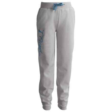 Puma Fleece Joggers (For Big Girls) in Light Heather Grey - Closeouts