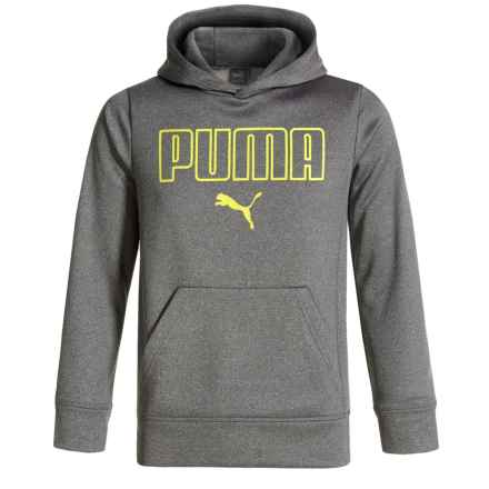 Puma Fleece Pullover Hoodie (For Big Boys) in Charcoal - Closeouts