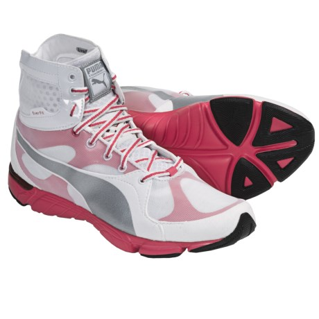 Puma Formlite XT Mid Sneakers (For Women) in White/Puma Silver/Teaberry Red