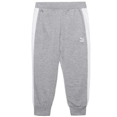 Puma French Terry Capris (For Big Girls) in Light Heather Grey