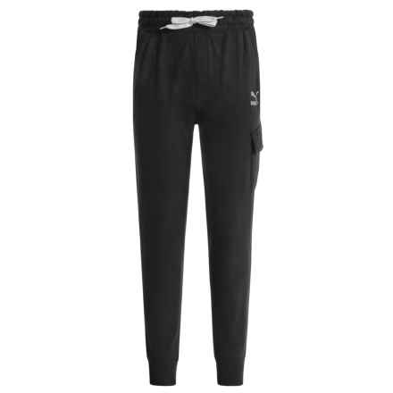 Puma French Terry Cargo Joggers (For Big Boys) in Black - Closeouts