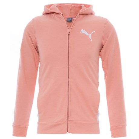 Puma French Terry Hoodie (For Big Girls) in Peach Beige