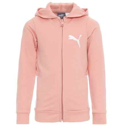 Puma French Terry Hoodie (For Little Girls) in Peach Beige - Closeouts