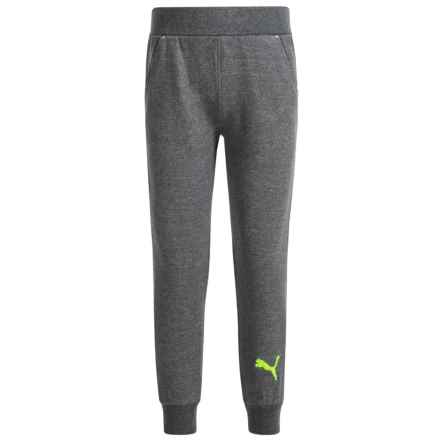 Puma French Terry Joggers (For Big Boys) in Charcoal - Closeouts