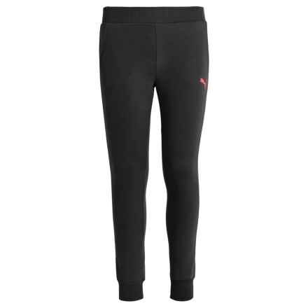 Puma French Terry Joggers (For Big Girls) in Puma Black - Closeouts