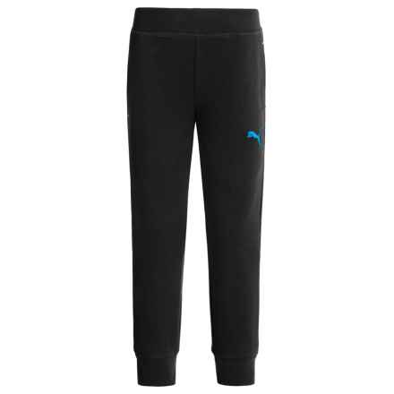 Puma French Terry Joggers (For Little Boys) in Puma Black - Closeouts