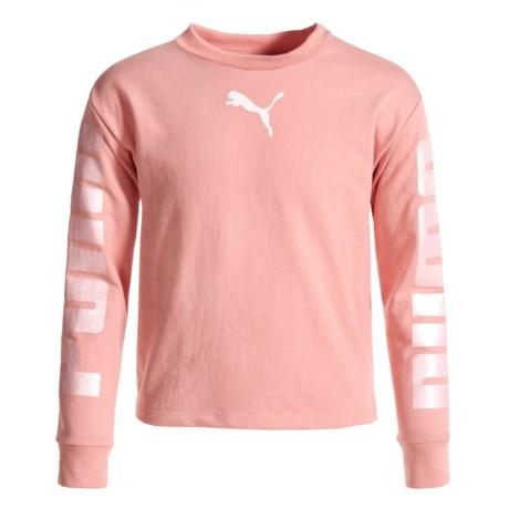 Puma French Terry Logo Sweatshirt (For Big Girls)