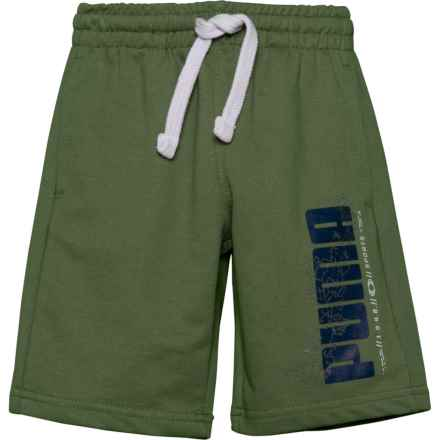 Puma French Terry Retro Shorts (For Little Boys) in Olivine - Closeouts