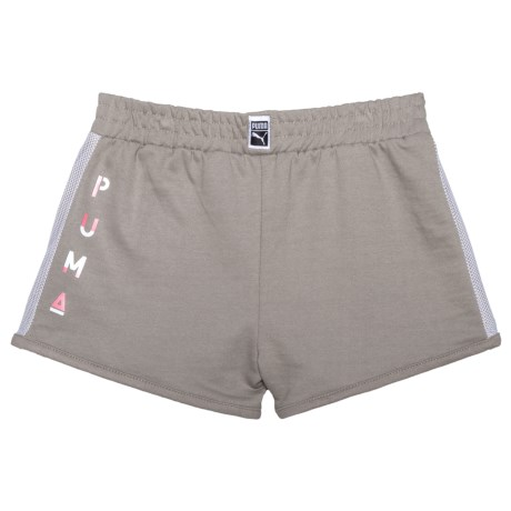 Puma French Terry Shorts (For Big Girls) in Rock Ridge