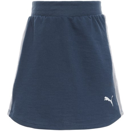 Puma French Terry Skirt (For Big Girls) in Sargasso Sea